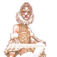 Illustration de mode Alexander McQueen piste automne 2013 RTW