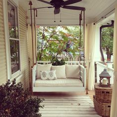 Visiting my client's adorable house... Love to see the use she's getting our of her porch!!
