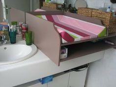 table à langer  sur mesure recouvrant un lavabo Blog de Miss SaCha : création, couture, bijoux, peintures ... Made in Grenoble