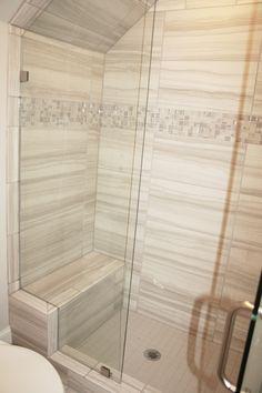 12x24 Amalfi Stone Bianco Scala Tile Installed