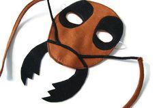 Ant Mask, Bug Mask, Woodland Animal Mask, Animal Birthday Party Favor, Child's Halloween Costume, Adult Mask, Adult Costume