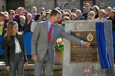 Prince Felipe  and Princess Letizia visited the  village of Teverga in Asturias.Teverga has been awarded this year with the Asturias Exemplary Village Prize