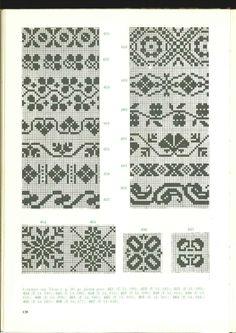 Latvian borders Card Patterns, Loom Patterns, Cross Stitch Borders, Cross Stitch Patterns, Knitting Charts, Knitting Patterns, Graph Design, Mittens Pattern, Crochet Chart