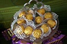 """I adore this - """"Golden Snitches"""" made from a Ferrero Rocher with Silhouette cut wings attached. LOVE! Makes me want to have a Harry Potter party"""