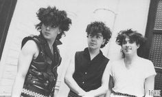 Look at that hair!  The Cure 1982- Lol Tolhurst, Robert Smith & Simon Gallup.
