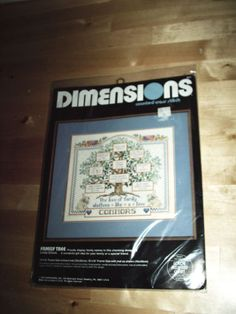 NEW-Dimensions-FAMILY-TREE-Counted-Cross-Stitch-Kit-3671-Linda-Gillum-14x12-1989
