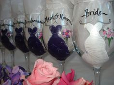 Such a cute idea especially give you give the guys the groomsmen beer glasses