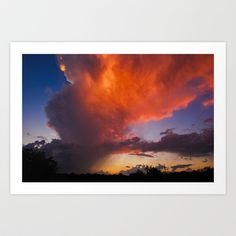 Before The End Of The Storm Art Print by Marisa Lopez-Cruzan - $17.68