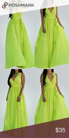 Sleeveless See-Through Lace-up Yellow Chiffon Sleeveless See-Through Lace-up Yellow Chiffon Ankle Length Dress KOREE Dresses Maxi