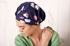 "<p>""Once upon a time, I posed a challenge to our audience: Find me a not-gross shower cap. You know—one that won't rip, mold, and look generally tacky hanging in my shower after just one use. Well, the universe (erm, internet) really delivered. This colorful cap's made from a very luxe-feeling, breathable, antibacterial nanotech fabric, and the rubber grip means zero moisture gets in and frizzes up the spot."" —Claire</p>"