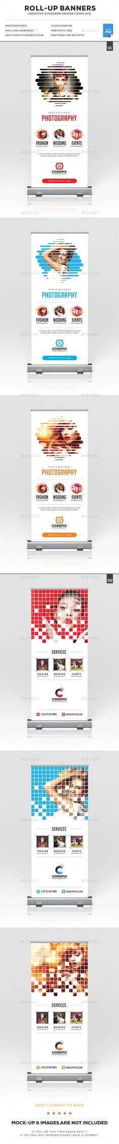 Photography Roll-Up Banner Bundle Templates PSD. Download here: http://graphicriver.net/item/photography-rollup-banner-bundle/16639875?ref=ksioks