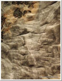 Walls of salt in the Salt Mine in Salzburg Austria