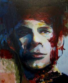 (The Veteran) Acrylic on canvas - 120 x 100 cm