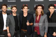 Rock band Dvicio attend the Telemundo's Latin American Music Awards 2015 held at Dolby Theatre on October 8, 2015 in Hollywood, California.