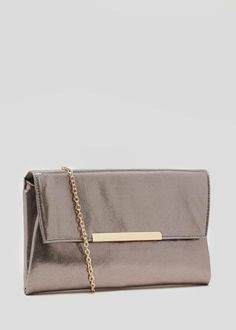 23b0ffc9e Iridescent Metallic Clutch Bag. Metallic Clutch BagMatalanStrappy Sandals  ...