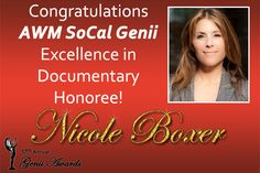 U.S. Senator Barbara Boxer will present the Excellence in Documentary Award to her daughter Nicole Boxer, a documentary filmmaker (The Invisible War, The Hunting Ground) at the Alliance for Women in Media, Southern California Affiliate Genii Awards, Thursday, May 5th at the Skirball Cultural Center. Join us at 5pm for the Red Carpet, Cocktail Party and Silent Auction; and at 6:30pm for the Awards Ceremony in the Magnin Theatre. #awmsocal #allwomeninmedia #geniiawards