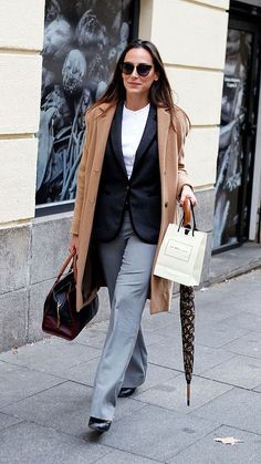 Tamara Falco is seen on January 2015 in Madrid, Spain. Diana Dors, New Outfits, Preppy, Madrid, Duster Coat, Fashion Dresses, Chic, Womens Fashion, January 20