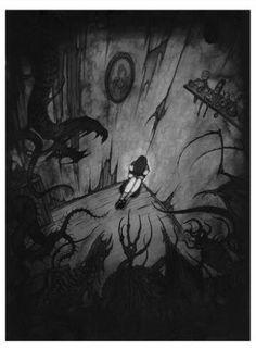New dark art drawings demons horror ideas Art And Illustration, Art Illustrations, Arte Horror, Horror Art, Dark Fantasy, Fantasy Art, Art Sinistre, Art Noir, Sad Drawings