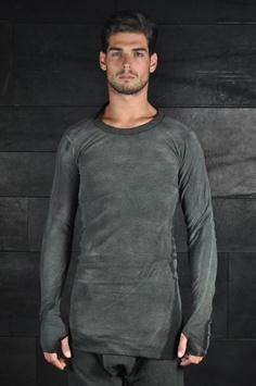 Boris Bidjan Saberi – Long Sleeves Tshirt With Cement Treatment