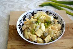 """מתכון קל וטעים: סלט תפוחי אדמהבמיונז(נקרא גם """"סלט מיונז"""")   מצרכים (2 מנות):  2 תפוחי אדמ"""