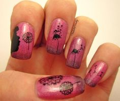 50 Cute Dandelion Nail Art Designs
