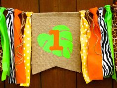 Jungle Safari Birthday Banner Highchair High Chair First One Age Bunting Zoo Party Bunting Garland Cake Smash Photo Prop I am One Burlap by SeacliffeCottage on Etsy https://www.etsy.com/listing/209878046/jungle-safari-birthday-banner-highchair