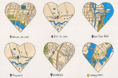 1 year Anniversary gift #heart #map