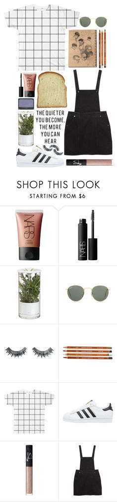 """""""Take me back to the night we met"""" by emmaadv ❤ liked on Polyvore featuring NARS Cosmetics, Crate and Barrel, Pink Lotus, Ray-Ban, Napoleon Perdis, adidas Originals and Monki"""