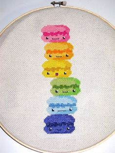 Macaroon Cross Stitch.  *love*