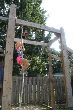 DIY Backyard Fun For The Entire Family, Rope Climb On Ninja Obstacle  Course, By Girl Meets Carpenter Featured On