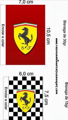 Ferrari - Mini Kit com molduras para convites,rótulos para guloseimas,lembrancinhas,imagens e plaquinhas divertidas! Ferrari Cake, Ferrari Party, Ferrari Racing, Ferrari Logo, Ferrari F40, Car Themed Parties, 10th Birthday Parties, Birthday Party Themes, Candy Bar Labels