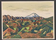 Mountain Landscape - Mt. Fuji | Okiie Hashimoto | The Art of Japan