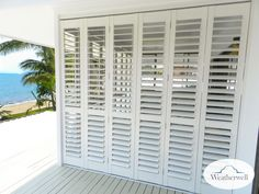 Aluminium shutters are a great choice if you looking for security, privacy, temperature control and light control. We offer a wide range of Aluminium Shutters, so visit our website and check out our range today! Window Shutters Exterior, Outdoor Shutters, Louvered Shutters, Aluminium Shutters, Bermuda Shutters, Bahama Shutters, Porch Shades, Outdoor Shades For Porch, Porch Privacy