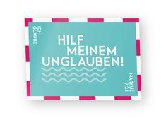 """Lentikular Postkarte Wackelbild zur Jahreslosung 2020 – """"Ich glaube; hilf meinem Unglauben!"""" Bibelvers Markus 9,24"""