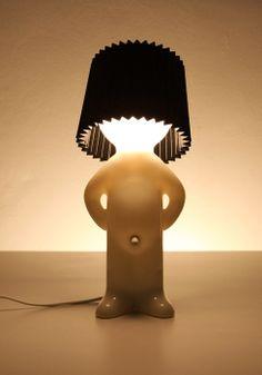 P Lamp - One Man Shy - Black Propaganda Black Table Lamps, Black Lamps, Design3000, Shops, My Happy Place, Lighting, Home Decor, Belly Button, Amazon