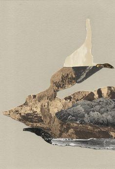 by Melinda Laszczynski Landscape Photos, Abstract Landscape, Abstract Art, Photomontage, Gouache, Deco Paint, Collage Techniques, Landscape Illustration, Land Art