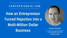 How an Entrepreneur Turned Rejection into a Multi-Million Dollar Business - with David Ciccarelli Tank You, Shark S, Co Founder, Entrepreneur, David, Club, Business, Store, Business Illustration