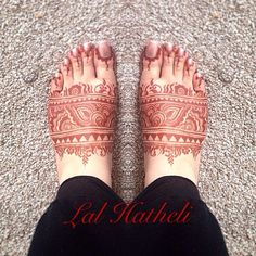Feet henna stain by Lal Hatheli