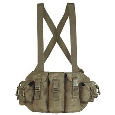 7 waterproof lined pockets with hook-n-loop flap closure and adjustable buckles for added security. Adjustable cross shoulder straps and waist belt. Great for airsoft, paintball, medics, shooters, photographers, etc.