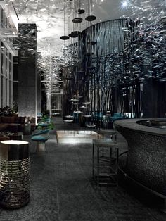The W Atlanta is a lush hideaway infused with natural elements and sensual style, by Burdifilek design