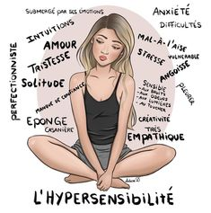 image with text & image with text _ image with text design _ image with text overlay Highly Sensitive Person, French Quotes, Mbti, Positive Attitude, Motivation, Self Development, Adolescence, Self Help, Feel Good