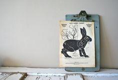 vintage paper shooting target:  jack rabbit