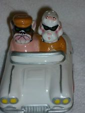 Dogs in a Car Nodder Salt and Pepper Shakers
