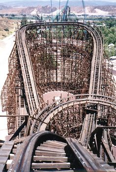The defunct Psyclone, Six Flags Magic Mountain, CA