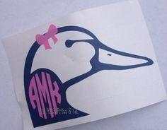 Ducks Unlimited Monogram Decal