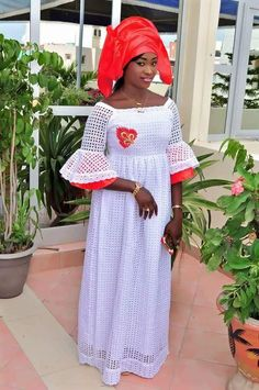 Buy African lace, Bazin riche outfits  This White lace with red bazin getzner African gown, comes with a wrapper and a head wrap. Set is $165 Shop Here:- https://www.afrizar.com/p…/african-white-lace-with-red-bazin #Afrizar #African #Faashion #Bazinlace #Riche #Grandbubu #Yellow #embroidery #Dress #HeapWrap #wrapper #Women #Africanlace #getzner #eidoutfits #AfricanTraditionaloutfits #Tobaskioutfits #bazinriche #bazinmali