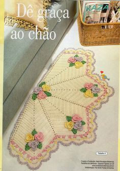 "Vaz Crochês ""Artesanato em Crochê"""