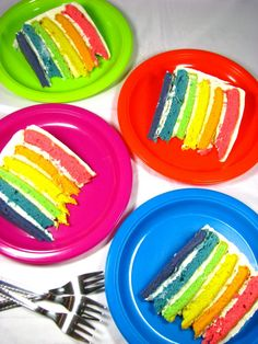 food, rainbow cake