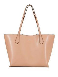 HOGAN Shopping Bag. #hogan #bags #shoulder bags #hand bags #leather #hobo #metallic #