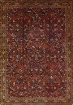 Antique Tabriz Rug –  Circa:1900 Sizes:13.9X19.6